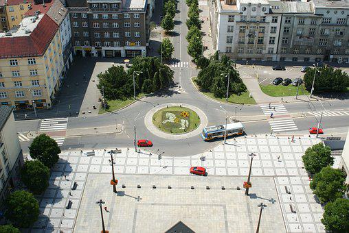 Crossroad, Ostrava, Czech, Panorama, Cityscape, City