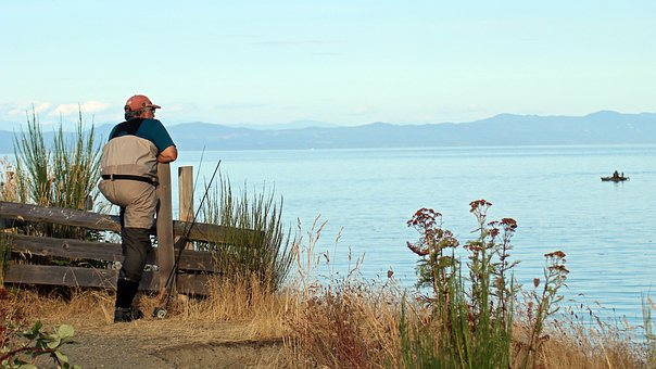 Fisherman, Sea, Fishing, Ocean, Landscape, Hobby