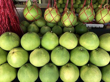 Pomelo, Fruit, Tree, Citrus Maxima, Citrus Grandis