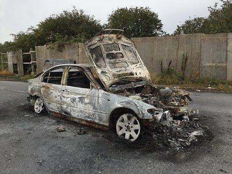 Burnt Car, Burned, Wreck, Dare, Metal, Broken, Old