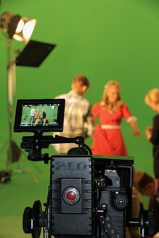 Chromakey, Shooting, Film, Movie, Scene, Set, Green