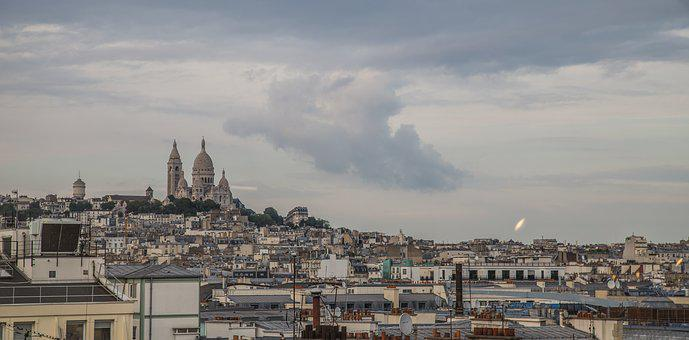 Paris, Montmartre, Bute, Monument, Sky, France