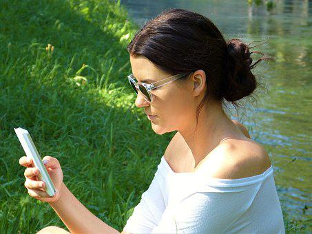 Woman, Girl, Young, Mobile Phone, Smartphone, Iphone