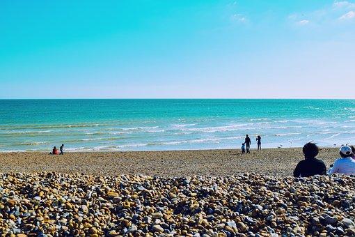 Sea, Sky, Summer, Brighton, Vacation, Sun, Beach, Waves