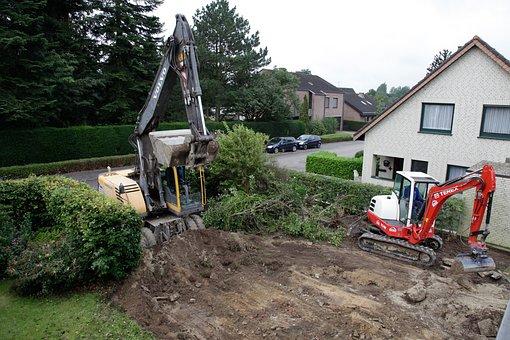 Construction Work, Work, Garden, Earthmoving