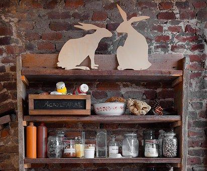 Rabbit, Shelf, Workshop, Art, Nostalgic, Past, Work