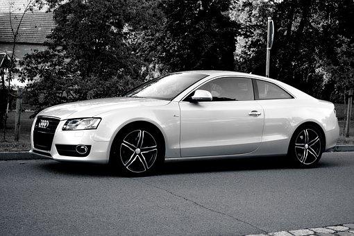 Auto, Audi, Pkw, Traffic, Dare, Black And White