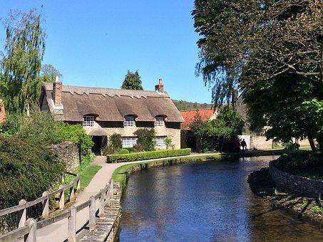 Yorkshire Dales, Cottage, River, England, Summer, Rural
