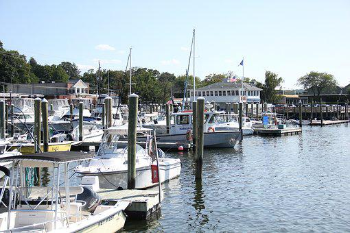 Harbor, Dock, Boats, Yacht Club, Long Island, New York