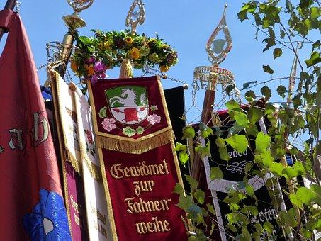 Flag, Customs, Bavaria, Flag Dedication