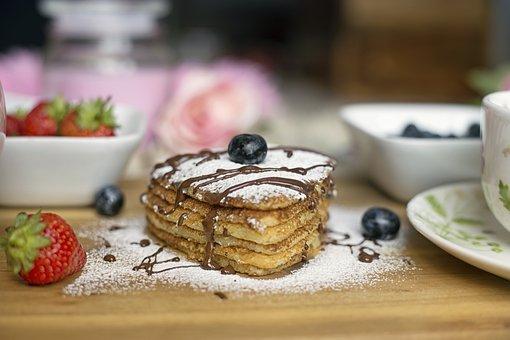 Pancake, Heart, Food, Breakfast, Love, Snack, Sweet