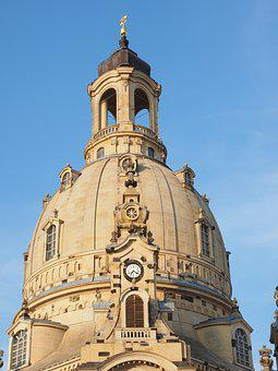 Church Dome, Dome, Dome Building, Frauenkirche, Dresden