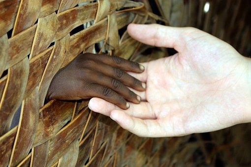 Hands, Fence, White, Wood, Holding, People, Sad, Haiti