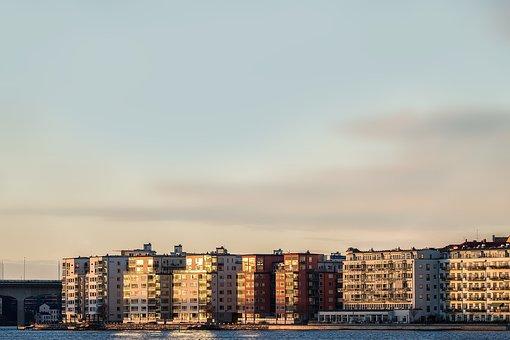 Stockholm, City, Evening, Autumn, Sweden, Metropolis