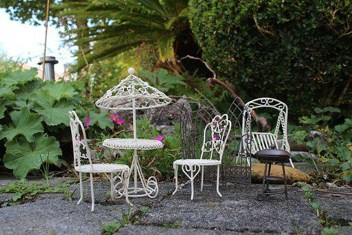 Mini Garden, Picnic, Barbecue, Hollywood Swing, Table