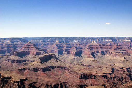 Mather Point, Grand Canyon, National Park, Blue Sky