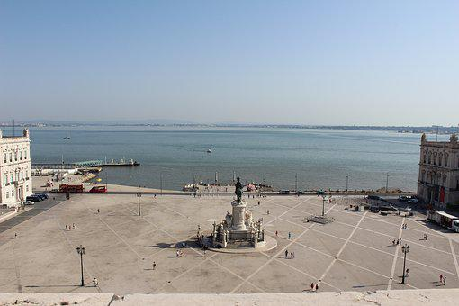 Lisbon, Square Trade, Portugal, City
