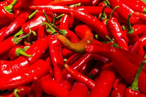 Red, Shiny, Spicy, Hot, Pepper, Fresh, Cooking