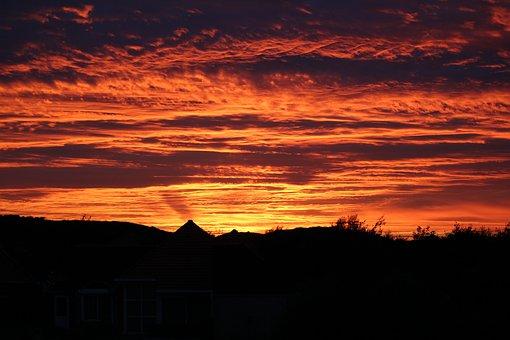 Afterglow, Sunset, Abendstimmung, Clouds