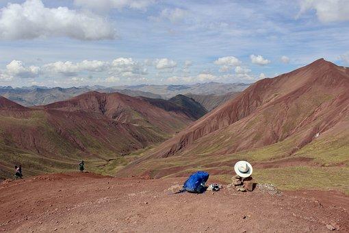 Vinicunca, Hat, Mountains, Rainbow, Mountain, Landscape