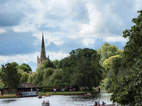 Church, Barge, Canal, Boats, Architecture, River, Boat