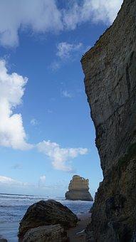 Great Ocean Road, Sky, Sea, Seaside, Cliff, Australia