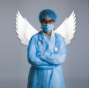 Guardian Angel, Doctor, Health, Angel, Woman, Nurse