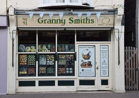 England, Fruit Shop, Small, Margate, Fruit, Vegetables
