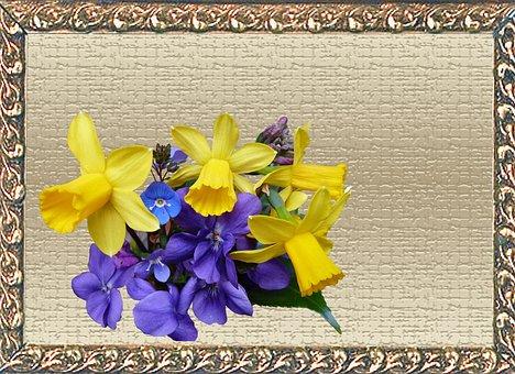 Greeting Card, Spring, Flowers