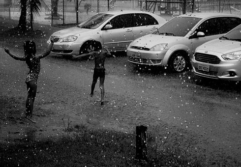 Child, Rain, Joke, Life, Love, Playing