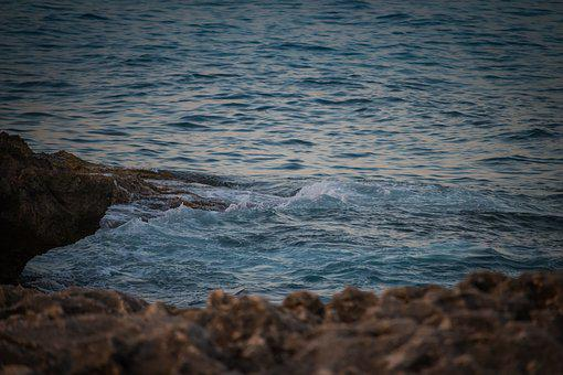 Sea, Waves, Coast, Rocks, Surf, Blue Sea, Mallorca