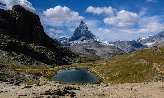 Matterhorn, Mountains, Alpine, Switzerland, Valais