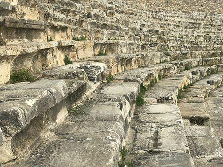 Colosseum, Ancient Ruins, Mottled Stone Stairs