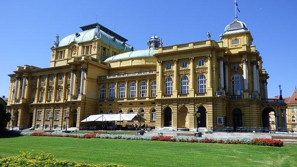 Zagreb, Croatia, National, Theater, Architecture