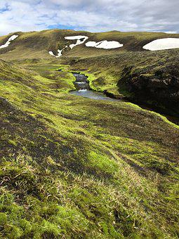 Iceland, Water, Snow, Nature, Grass, Landscape, Glacier