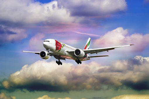 Emirate, Airline, Rose, Aircraft, Plane, United, Flight