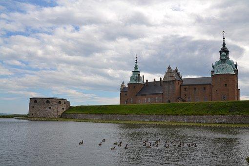 Sweden, Squid, Castle, Strength, Medieval Architecture