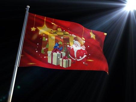 Flag, Xmas, Christmas, Merry Christmas