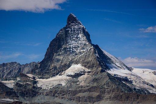 Matterhorn, Switzerland, Alpine, Zermatt, Glacier, Snow