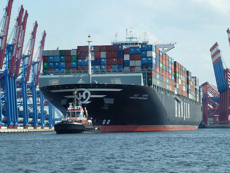 Elbe, Maritime, Transport, Container Ship, Seafaring