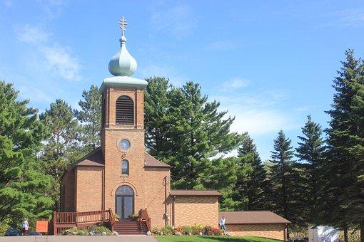 Russian Orthodox, Church, Onion Dome, Cross, Building