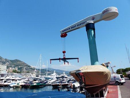 Crane, Port, Loading, Column Crane, Cross Traverse