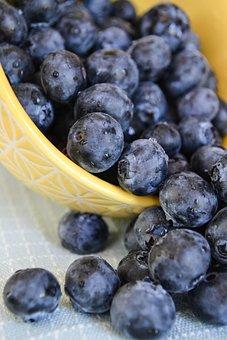 Blueberries, Bowl, Fresh, Food, Fruit, Healthy