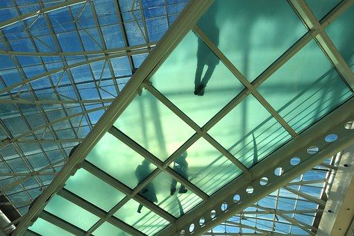 Portugal, Lisbon, Shopping, Mall, Roof, Glass, Green