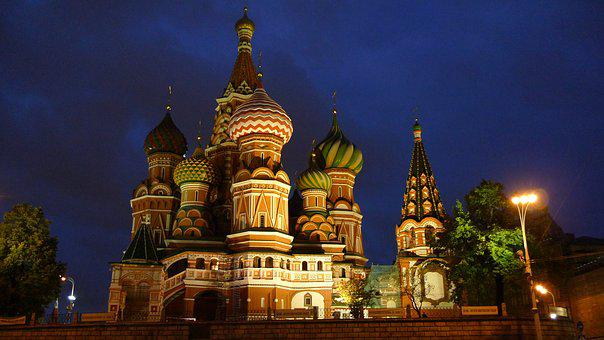 Moscow, Red Square, To, Russia, Historically, Capital