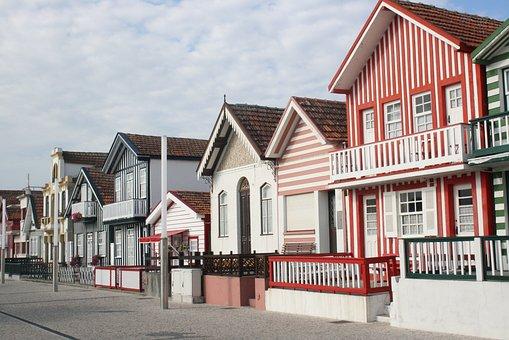 New Coast, Aveiro, Beach, City, Portugal, Homes, Street