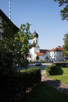 Village, Local Transit, Church, Onion Dome, Baroque