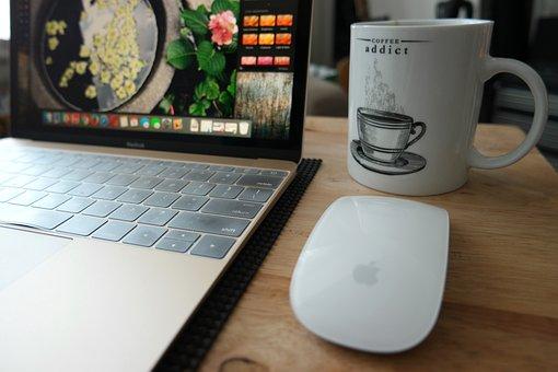 Coffee Addict, Coffee, Mug, Work, Laptop, Computer, Cup