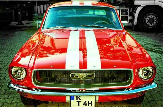 Pkw, Oldtimer, Ford, Mustang, V8, 67, Historically