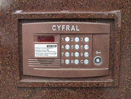 Door Lock, Access Control, Number Input Field, Security